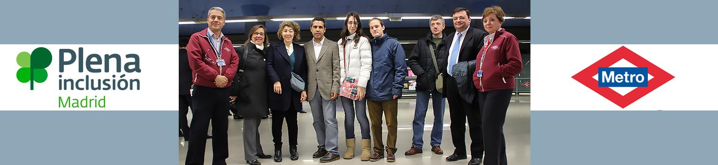 Metro de Madrid y Plena Inclusión firman un convenio de colaboración para adaptar la red de metro a personas con discapacidad y hacerlo más accesible.