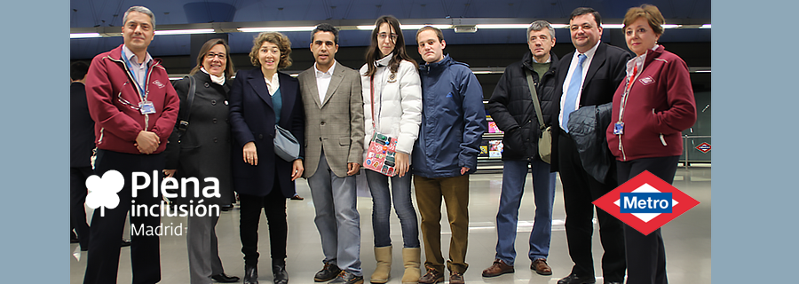 Metro y Plena Inclusión Madrid firman un convenio para la integración social de personas con discapacidad intelectual.