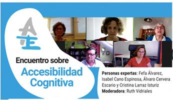Foto de encuentro sobre accesibilidad cognitiva de Autismo España